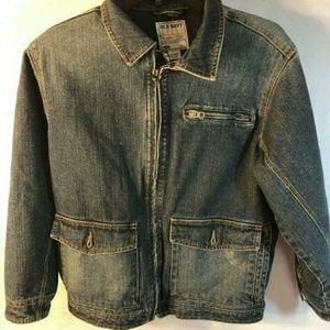 Old Navy Distressed Denim Jean Jacket Size M